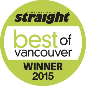 Best Of Vancouver 2015 Georgia Straight Readers Choice Award